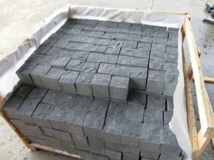 Black Basalt natural finish cobble stone
