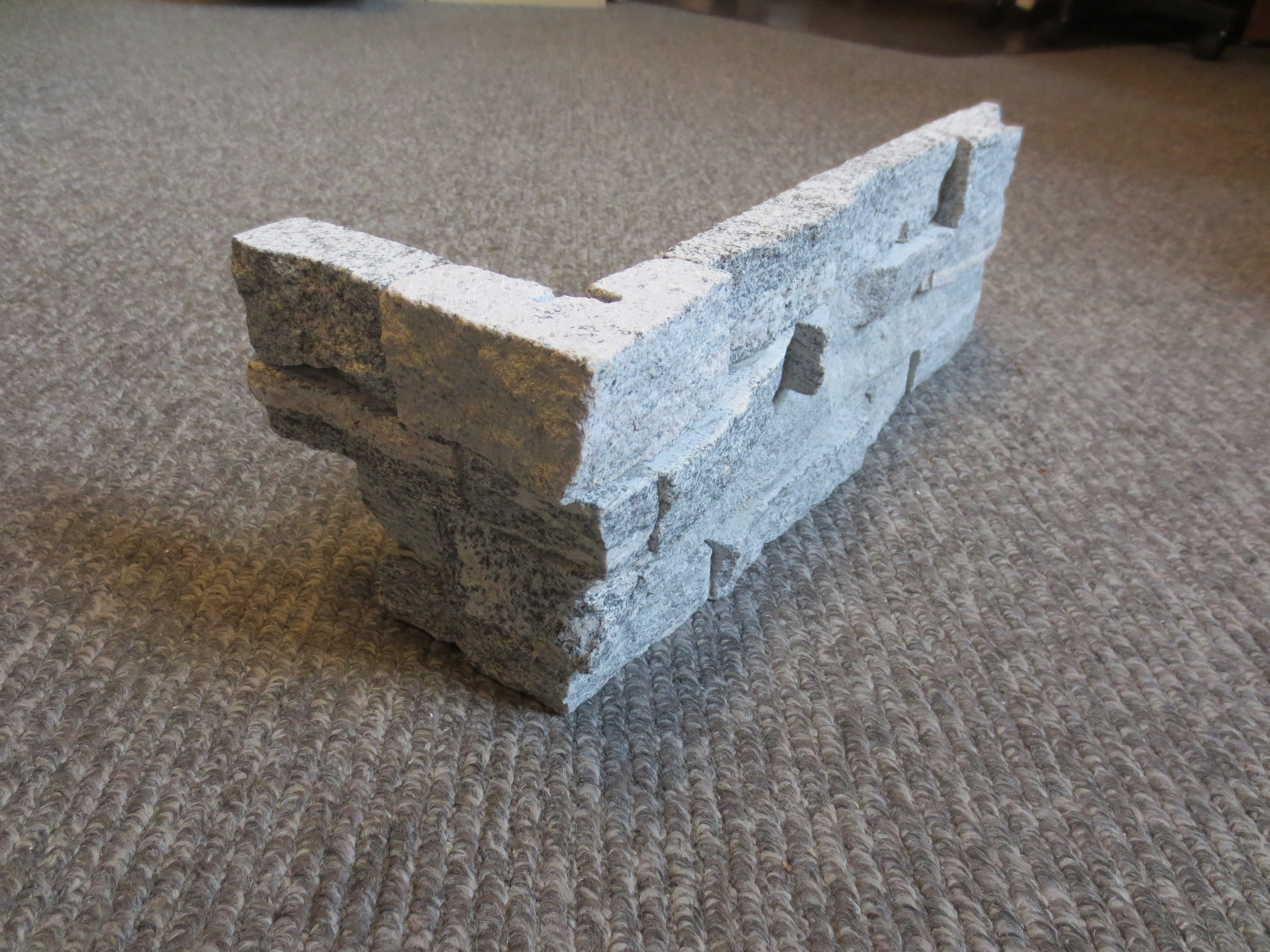 Ledge stone veneer panel