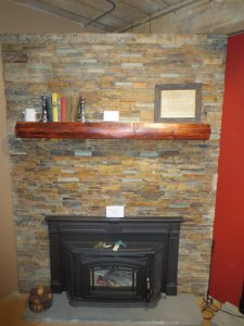 Multi slate fireplace