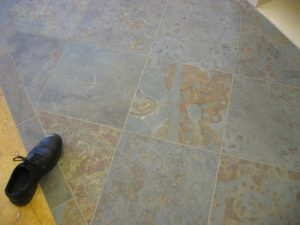 rusty slate floor