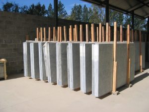 Soapstone slabs, ready for shipment